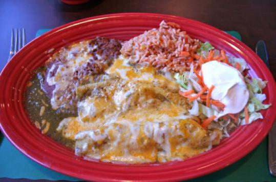 La Paloma's chicken enchiladas are the perfect comfort food.