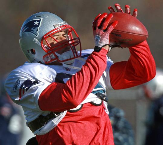 Rookie tight end Aaron Hernandez is second on the Patriots in receptions with 34.
