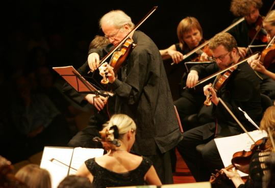 Gidon Kremer (pictured in New York City in 2006) performed Friday night at Jordan Hall.