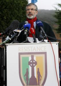 Sinn Fein chief Gerry Adams said yesterday that he intends to resign his political posts in Northern Ireland.
