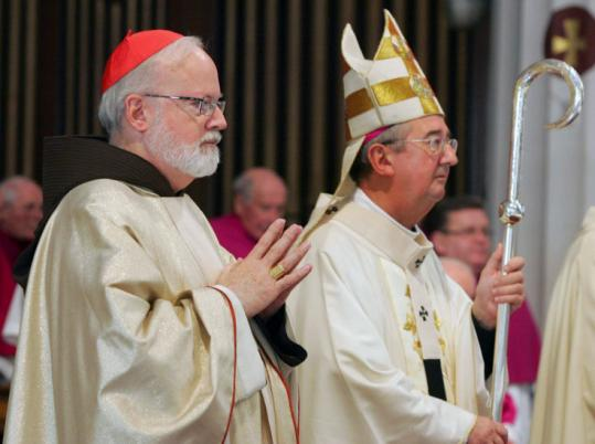 Cardinal Sean P. O'Malley (left) and Archbishop Diarmuid Martin of Dublin celebrated Mass together in Dublin.