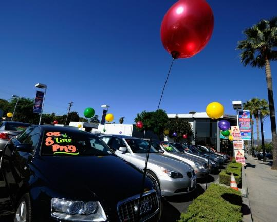 Sales at US auto dealerships rose 5 percent in October — the best monthly showing since the government's Cash for Clunkers program sent sales surging in August 2009.