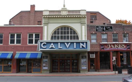 Pop musicians play the Calvin Theatre.