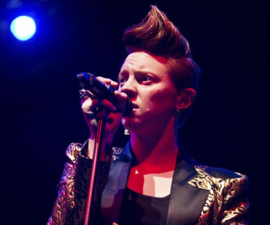 Elly Jackson, lead singer of La Roux, immediately got the fans on their feet.