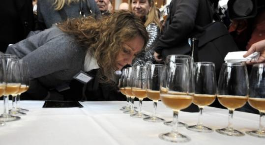 Champagne from one of the 168 bottles salvaged from an almost 200-year-old shipwreck was sampled yesterday.