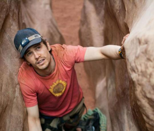 "James Franco plays hiker Aron Ralston in ""127 Hours.''"