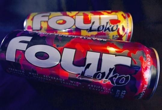 Four Loko and other alcoholic drinks containing caffeine were to be removed from store shelves by the end of yesterday.