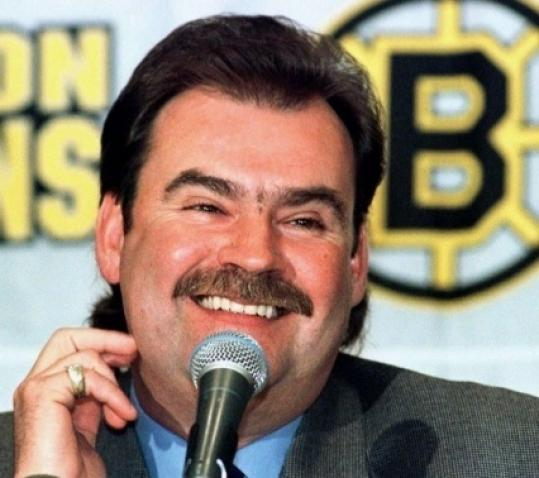Pat Burns won coach of the year with the Bruins, leading them to the playoffs twice.