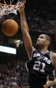Tim Duncan passed David Robinson as the Spurs all-time leading scorer.