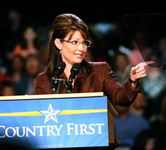 Sarah Palin campaigned in New Hampshire on Oct. 15, 2008, and hasn't been back since.