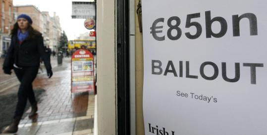 Many taxpayers were angered that the bailout required Ireland to use some of its own cash and pension funds as part of the deal.