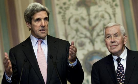 Senators John F. Kerry and Richard Lugar, who head the Foreign Relations Committee.