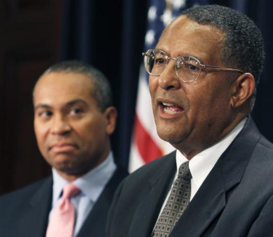 Justice Roderick L. Ireland (right) was nominated by Governor Deval Patrick to succeed Chief Justice Margaret H. Marshall.