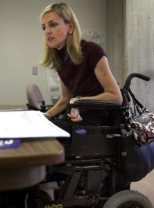 Kristen McCosh, commissioner for persons with disabilities, in her office at Boston's City Hall.