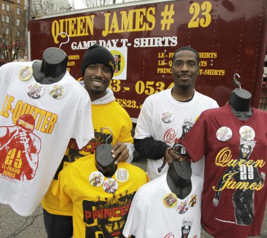 "Cleveland fans will be waiting tonight with plenty of ammunition for LeBron James — including ""Queen James'' jerseys."