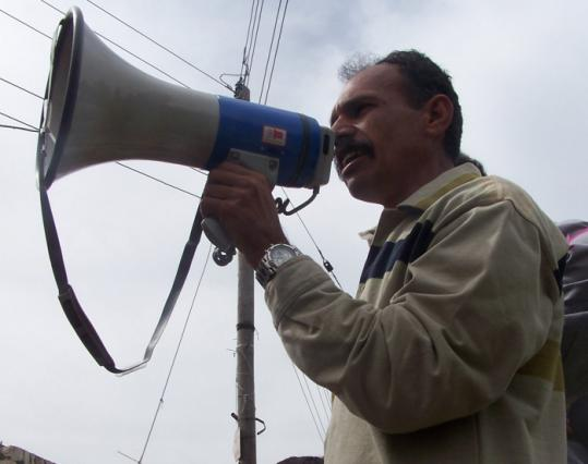 """Community organizer Ayed Morrar in """"Budrus.''"""
