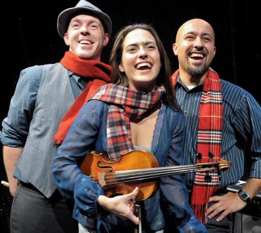 "From left: Zachary Hardy, Erikka Walsh, and José Delgado will perform in SpeakEasy Stage's ""Striking 12.''"