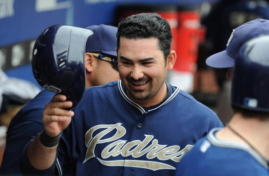 Pitchers struggled to keep a lid on Adrian Gonzalez in San Diego. The first baseman averaged 35 homers from 2008-10.
