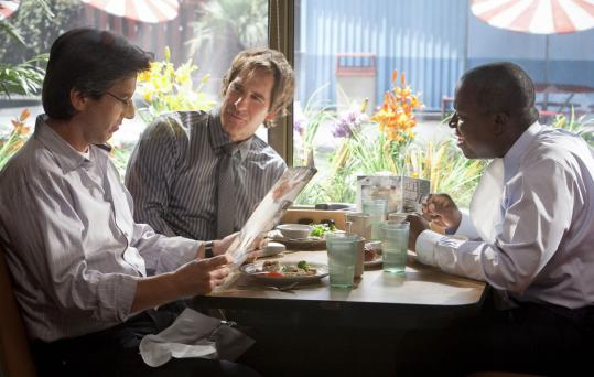 "Danny Feld From left: Ray Romano, Scott Bakula, and Andre Braugher face new midlife challenges, but continue their breakfasts at the diner, in the second season of ""Men of a Certain Age.''"