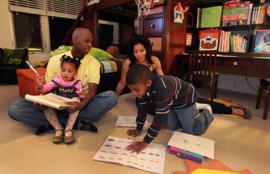 LeVar and Tamara Johnson, with their children, will keep renting in Natick.