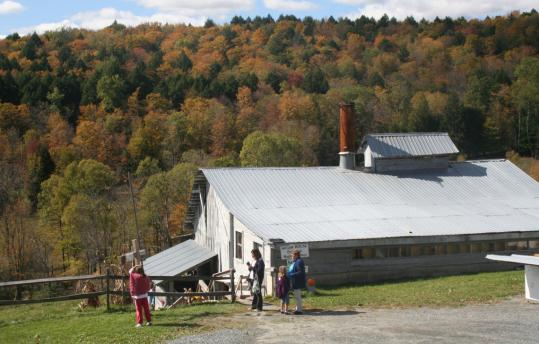 Sugarbush Farm, dating to 1945, sells cheeses and syrups.