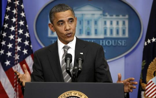 """In this case, the hostage was the American people, and I was not willing to see them get harmed,'' President Obama said."