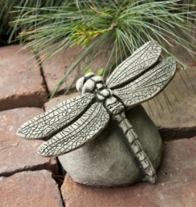 A 7-inch-long Campania Dragonfly Garden Statue.