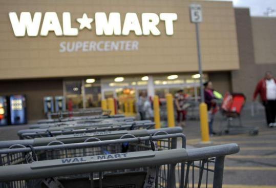 Wal-Mart's move to cut extra Sunday pay won't apply to employees in Rhode Island and Massachusetts.