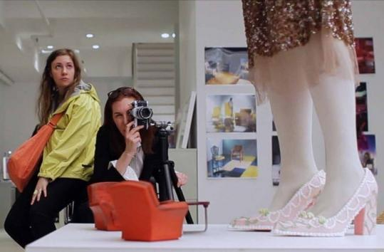 "Lena Dunham (left) and Laurie Simmons in ""Tiny Furniture,'' an indie movie about post-college drift."