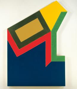 "Frank Stella named the pieces in his series after towns in New Hampshire. Pictured ""Moultonville II.'"
