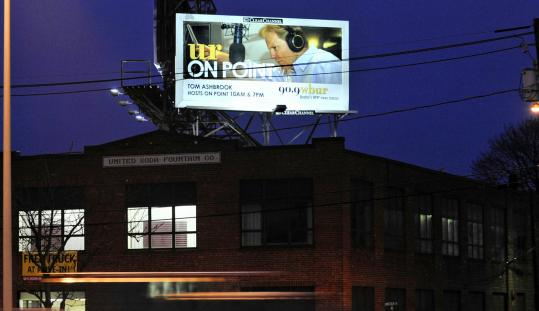 Analysts say WBUR's aggressive new advertising effort, which includes billboards along the Mass. Pike, is a rarity for a public radio station.