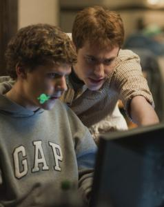 "Jesse Eisenberg (left) and Joseph Mazzello in ""The Social Network.''"