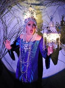 "Olive Another as the Ghost of Christmas Past in ""Mrs. Grinchley's Christmas Carol'' at Machine."