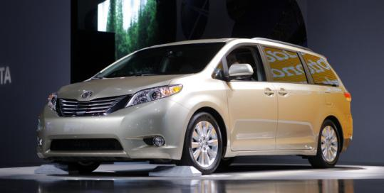 Replacement parts for the Toyota Sienna are expected in February. Recall work will be done for free by Toyota dealers.