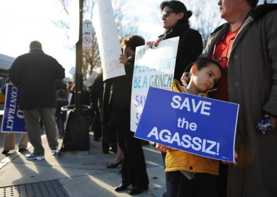 Parents staged a demonstration in Jamaica Plain this month to protest plans to close the Agassiz School in a budget squeeze.