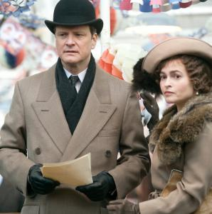 Colin Firth portrays the man who would become George VI and Helena Bonham Carter plays his wife.