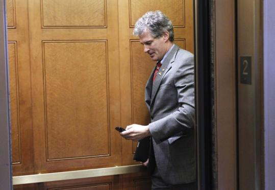 Senator Scott Brown, shown on Capitol Hill yesterday, has offered his support, but the bill's fate is still unclear.