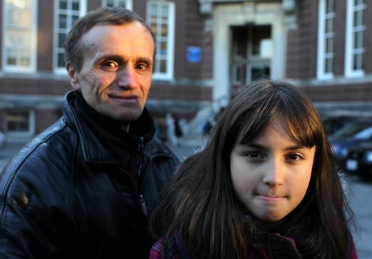 "Hajri Mija's said his daughter, Inis, will stay in the public school system, and that he sympathizes with parents who have to find new schools for their children. ""We feel sorry,'' he said. ""It's not good news.''"