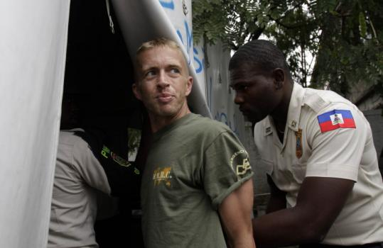 Paul Waggoner, who went to Haiti after the earthquake there, was escorted to court in Port-au-Prince on Wednesday.