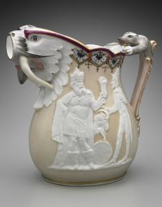 Karl L.H. Müller's beer pitcher, which is exhibited in the new wing at the Museum of Fine Arts.