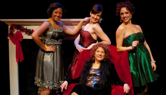 "From left: Kami Rushell Smith, Aimee Doherty, Bobbie Steinbach, and Michele A. DeLuca in ""New Rep's Darling Divas Deck the Holidays.''"