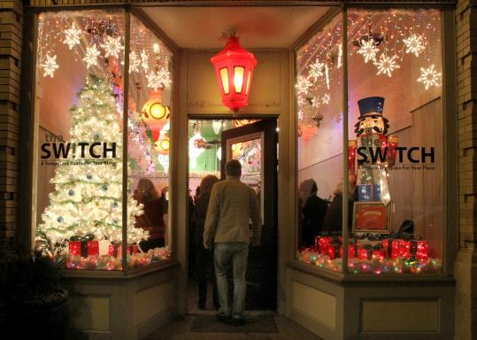 The storefront at The Switch in Hyde Park took first place in a 160-shop window-decorating competition.