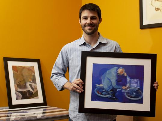 Jason Gracilieri, founder of TurningArt, at his Cambridge offices.