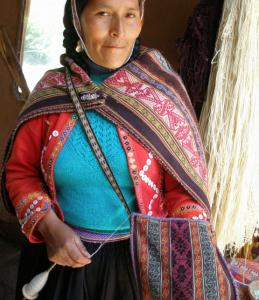 Affinities Travel tours will meet weavers like this woman from Peru's Sacred Valley.
