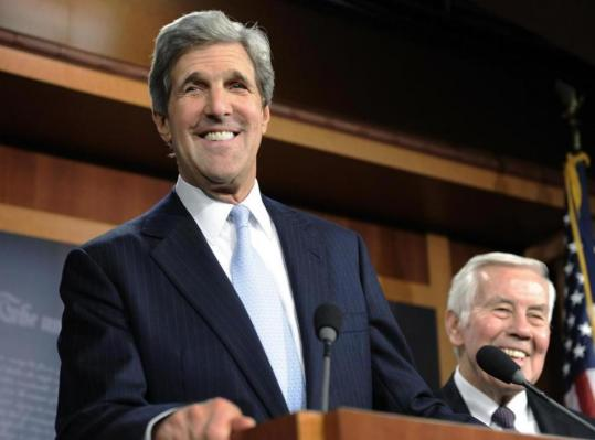 Senators John F. Kerry of Massachusetts and Richard Lugar of Indiana, who drafted the resolution for ratification, were jubilant yesterday in Washington.