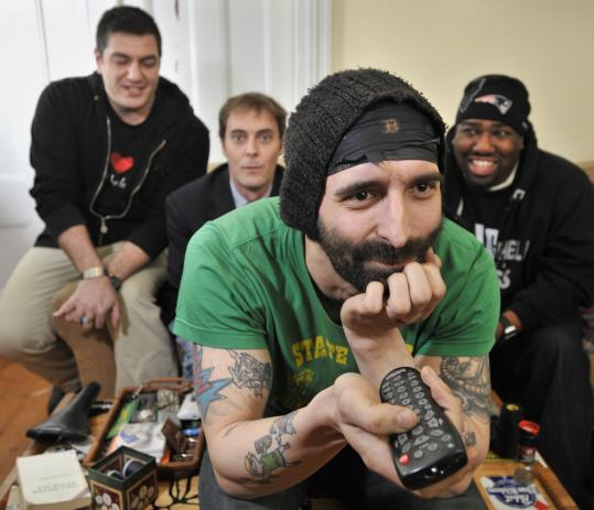 Musician and comedian Rob Potylo (foreground) and some of his friends will be the focus of a semi-reality show on the cable channel MyTV.