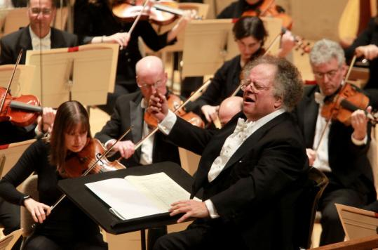 James Levine returned from back surgery to the Boston Symphony Orchestra podium at Symphony Hall on Oct. 2.