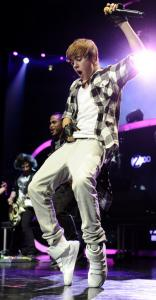 Justin Bieber at Madison Square Garden in New York.