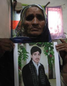 Amtal Hafiz With A Picture Of Her Son Muhammad Shafique Sentenced To