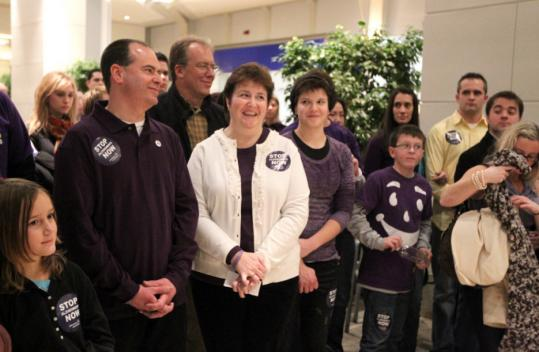 "Bruce Vincent and his family attended an Alzheimer's Association event Dec. 12. Cindy Vincent told the gathering the true spirit of the holidays is about ""caring, sharing, family, and friends.''"